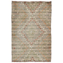 Vintage Kilim Rug from Turkey with All-Over Diamond Pattern