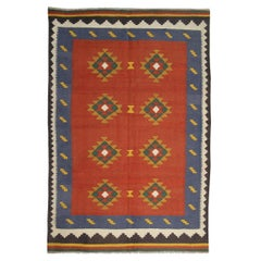 Vintage Kilim Rugs Traditional Rugs, Orange Rug Carpet from Afghanistan