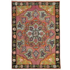 Floral Vintage Kilim Rugs, Traditional Rugs, Turkish Carpet Rug from Anatolia
