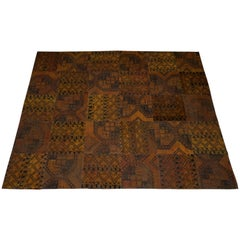 Vintage Kilum Patchwork Burnt Orange Large Rug Period Patina Feel