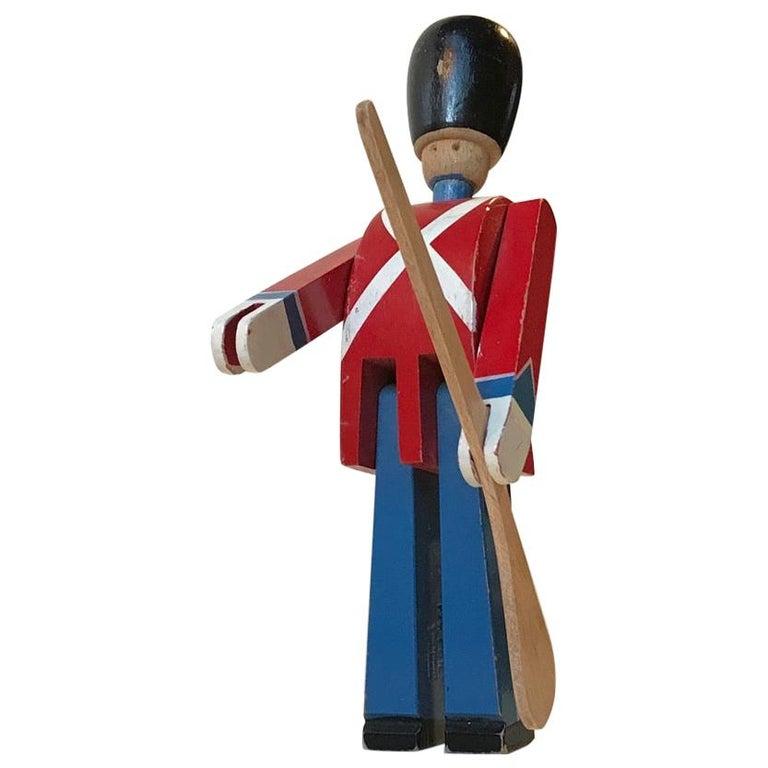 Vintage Kings Guardsman Wood Toy by Kay Bojesen, 1970s For Sale