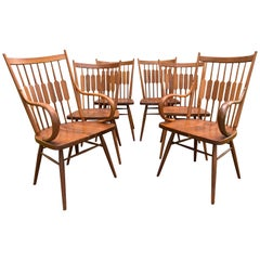 Vintage Kipp Stewart for Drexel Declaration Walnut Dining Chairs, Set of 6