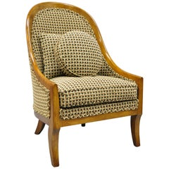 Klismos Saber Leg Slipper Lounge Chair Attributed to Michael Taylor for Baker