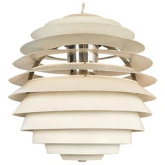 "Vintage ""Kluge"" Suspension in White Lacquered Aluminum by Poul Henningsen"