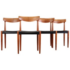 Vintage Knud Faerch Teak Dining Chairs, Set of 4
