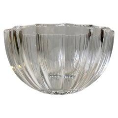 Vintage Kosta Boda Fluted Crystal Bowl