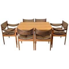 Vintage Kristian Vedel Danish Design Oak Dining Set