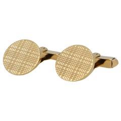 Vintage Kutchinsky Circular Swivel Cufflinks Set in 9k Yellow
