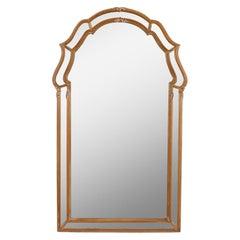Vintage La Barge Cerused Oak Mirror