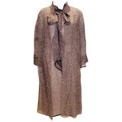 Vintage La Chasse Silk hiffon Dress and Coat