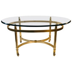 Vintage LaBarge Style Small Oval Coffee Table