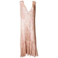 Vintage Lace 1930s Dress