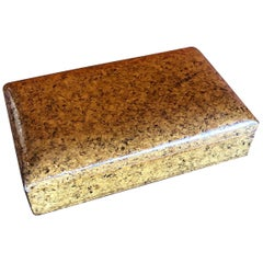 Vintage Lacquered Cork Trinket Box in the Style of Paul Frankl