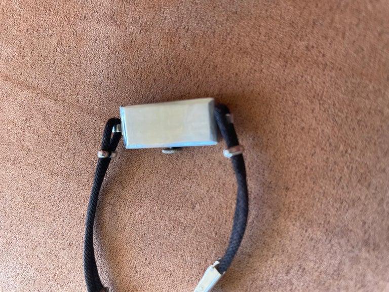 Vintage Ladies 17 Jewel Movement Platinum Wrist Watch For Sale 1