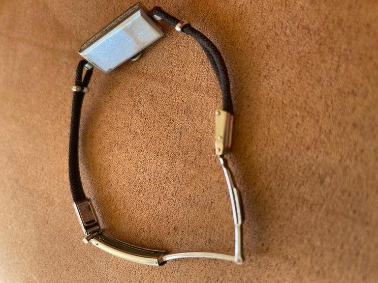 Vintage Ladies 17 Jewel Movement Platinum Wrist Watch For Sale 2