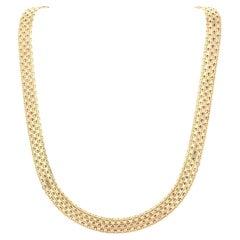 Vintage Ladies Italian 14K Yellow Gold Necklace