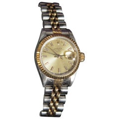 Vintage Ladies Oyster Perpetual 14-Karat Gold and Stainless Rolex Watch