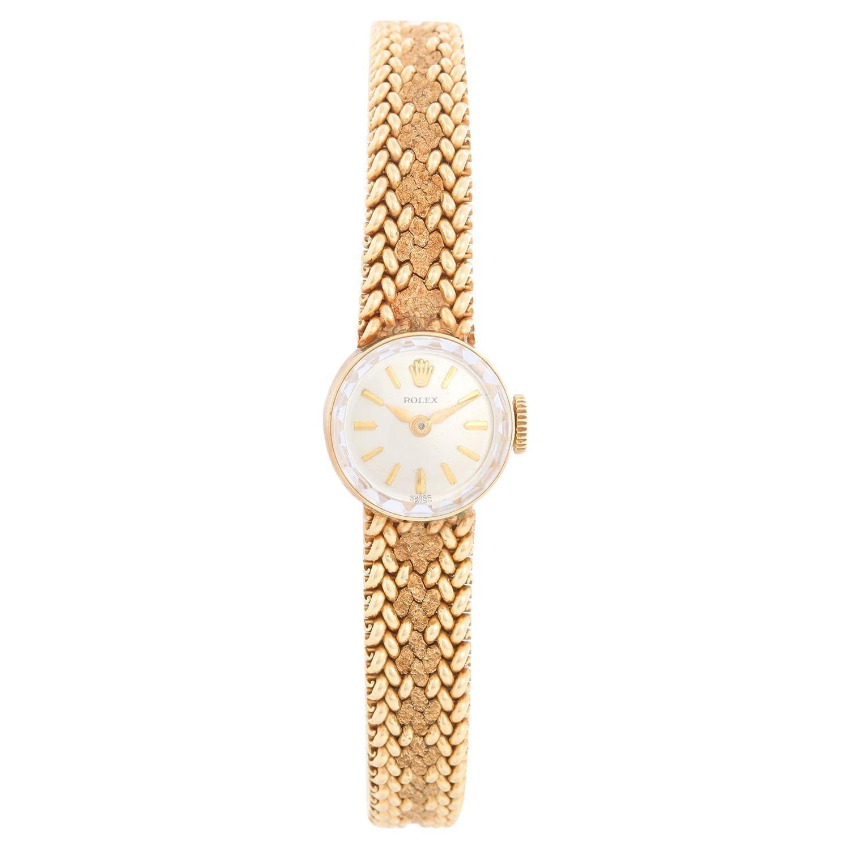 Vintage Ladies Rolex 14k Yellow Gold Watch