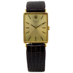 Vintage Ladies Rolex Wristwatch in 18 Karat Yellow Gold, 1960s