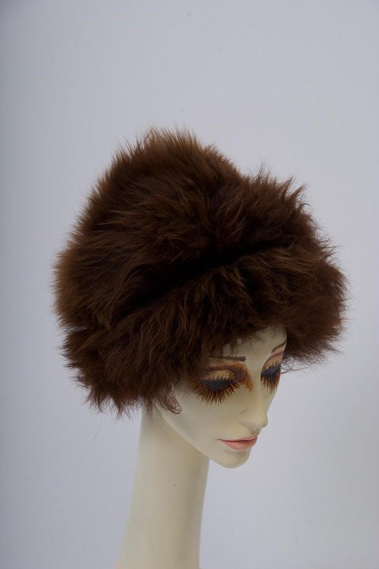 Black Vintage Lamb Hat For Sale