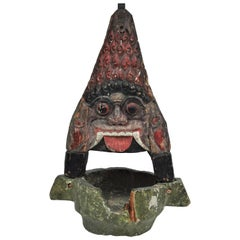 Vintage Lamp Holder, Bali, Wayang Puppet Theatre, Early to Mid-20th Century