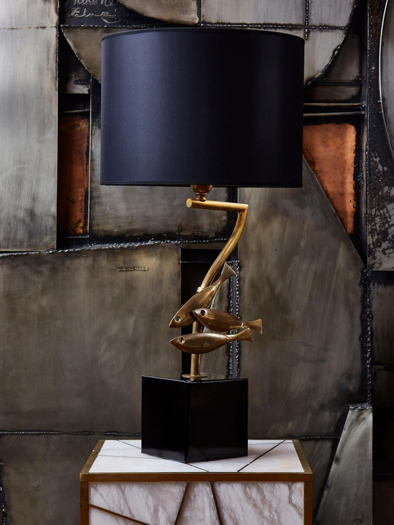 Mid-Century Modern Vintage Lamps in Brass For Sale