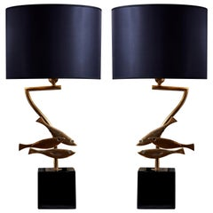 Vintage Lamps in Brass