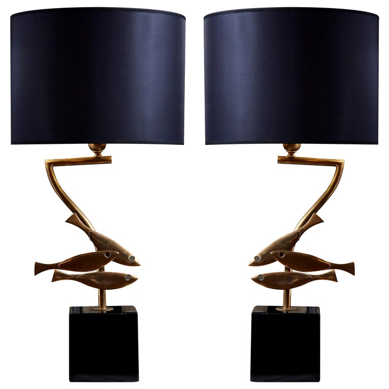 Vintage Lamps in Brass For Sale