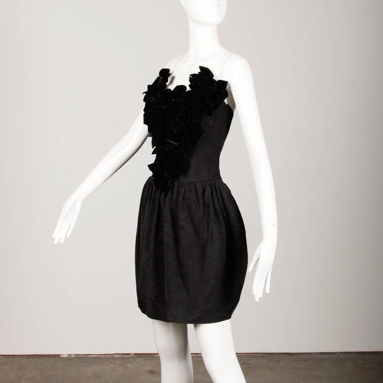 Black Vintage Lanvin Dress For Sale