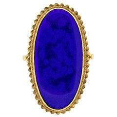 Vintage Lapis Lazuli Cocktail Ring, circa 1950s