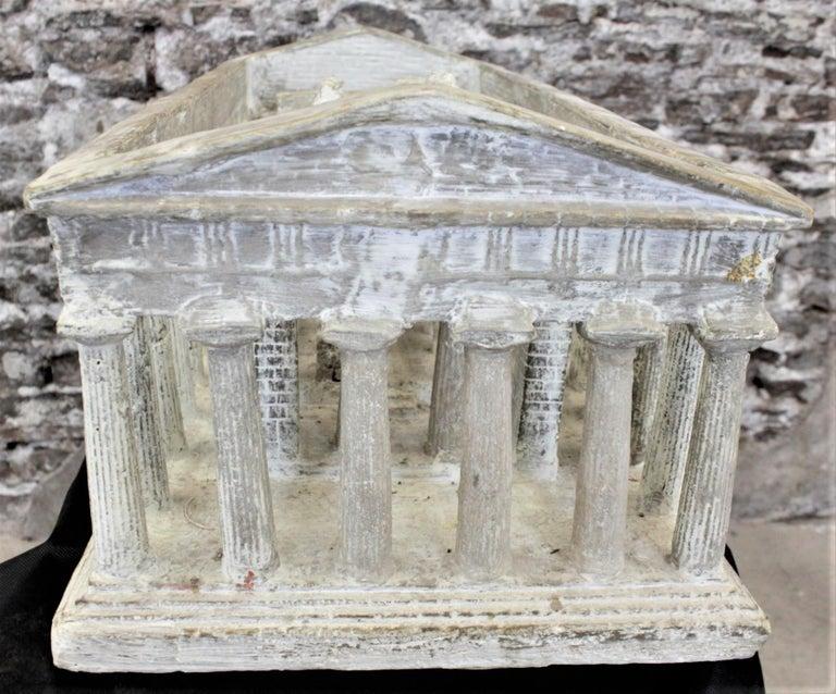 Vintage Large Ancient Greek Temple Ruins Architectural Model or Sculpture For Sale 2