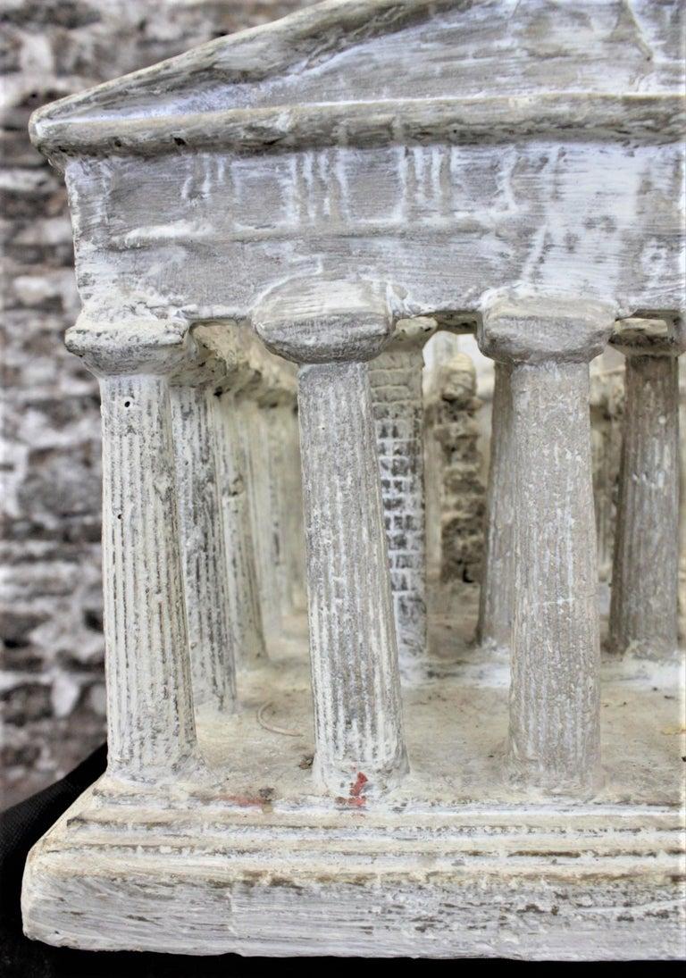 Vintage Large Ancient Greek Temple Ruins Architectural Model or Sculpture For Sale 3