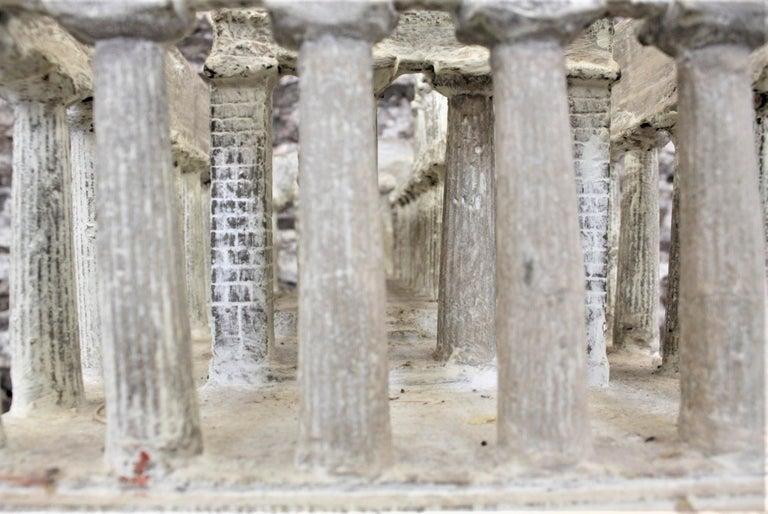 Vintage Large Ancient Greek Temple Ruins Architectural Model or Sculpture For Sale 4