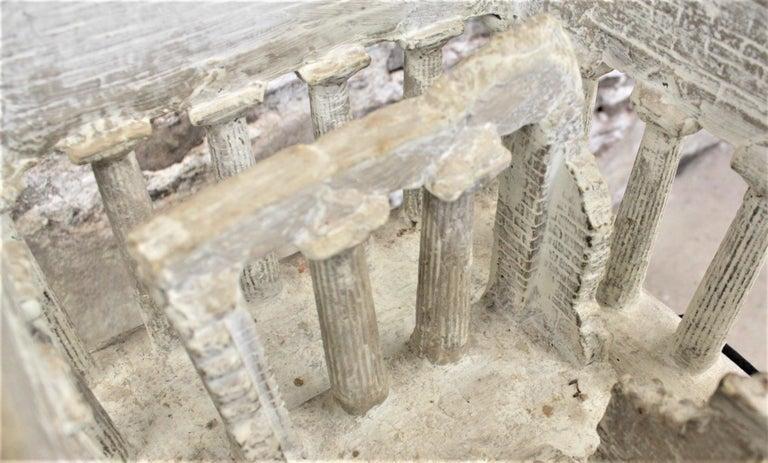 Vintage Large Ancient Greek Temple Ruins Architectural Model or Sculpture For Sale 5
