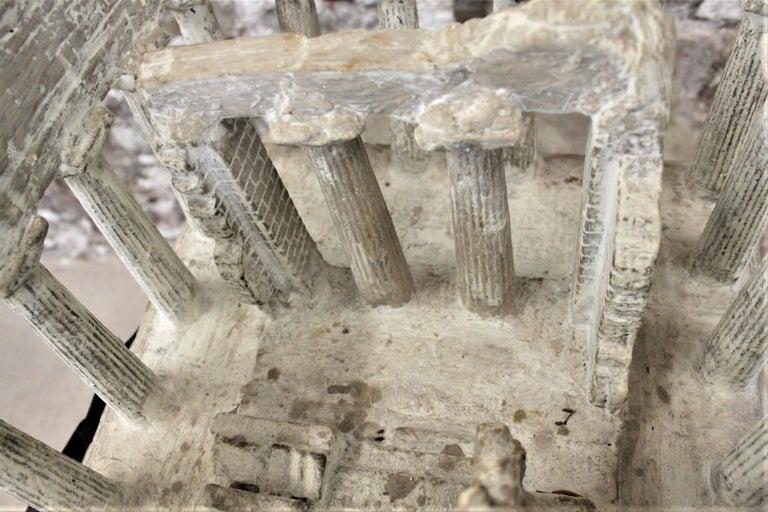 Vintage Large Ancient Greek Temple Ruins Architectural Model or Sculpture For Sale 6