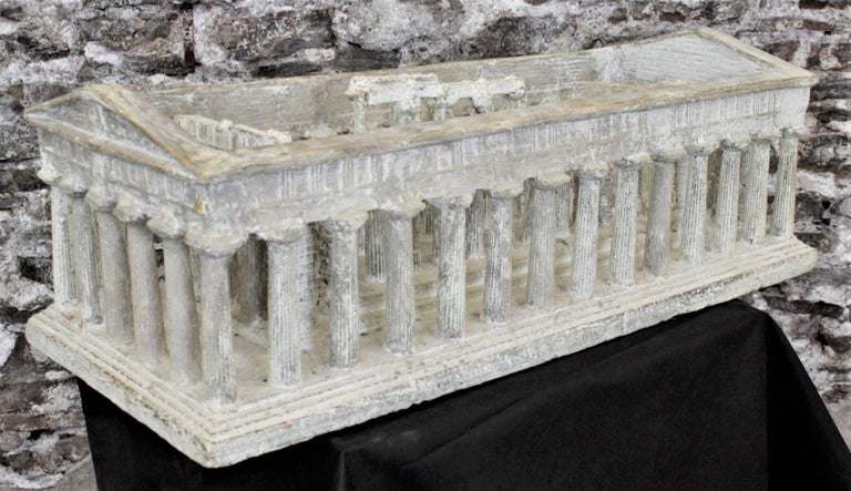 Vintage Large Ancient Greek Temple Ruins Architectural Model or Sculpture For Sale 9