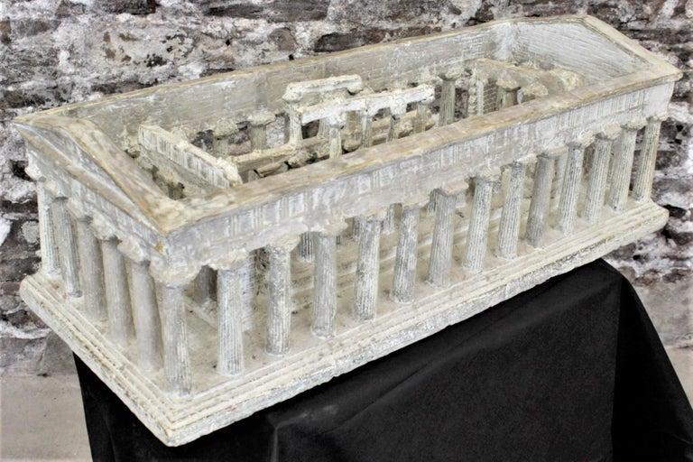 Classical Greek Vintage Large Ancient Greek Temple Ruins Architectural Model or Sculpture For Sale