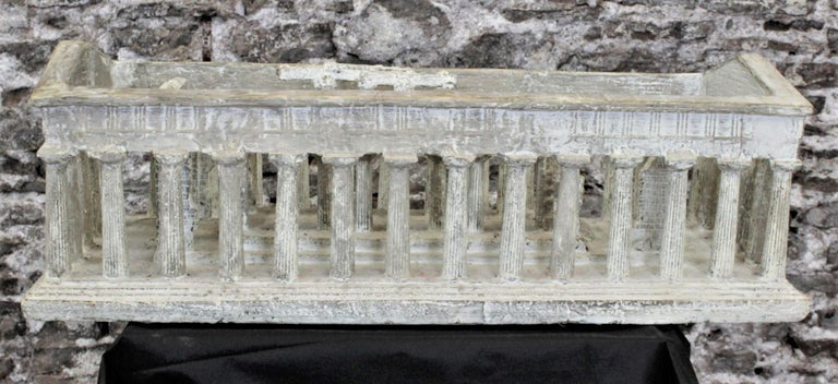 Italian Vintage Large Ancient Greek Temple Ruins Architectural Model or Sculpture For Sale