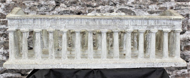 Vintage Large Ancient Greek Temple Ruins Architectural Model or Sculpture In Good Condition For Sale In Hamilton, Ontario