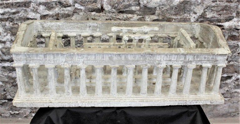 20th Century Vintage Large Ancient Greek Temple Ruins Architectural Model or Sculpture For Sale