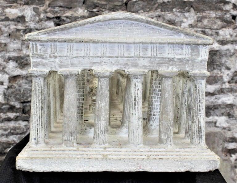 Plaster Vintage Large Ancient Greek Temple Ruins Architectural Model or Sculpture For Sale