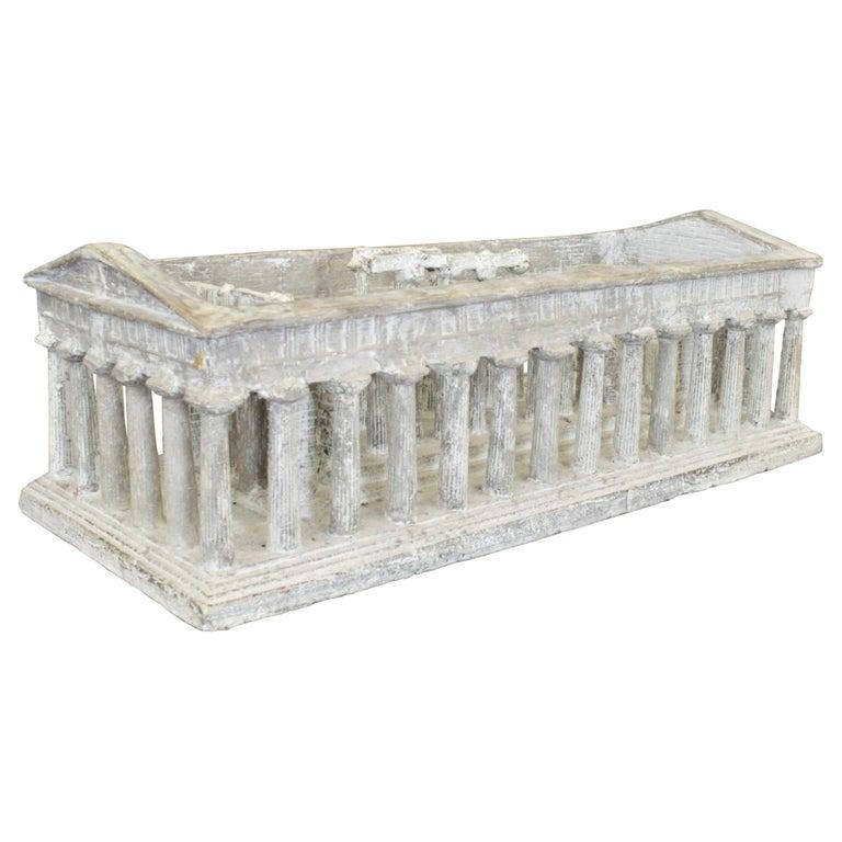 Vintage Large Ancient Greek Temple Ruins Architectural Model or Sculpture For Sale
