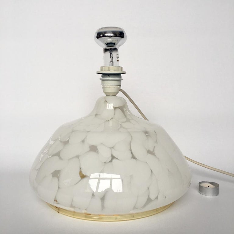 Vintage Large Art Glass Table Lamp with Luminous Base In Good Condition For Sale In Riga, Latvia