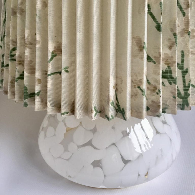 Vintage Large Art Glass Table Lamp with Luminous Base For Sale 1