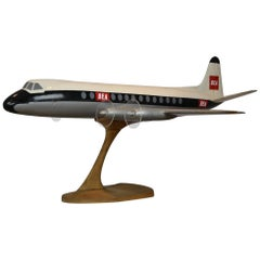 Vintage Large BEA Wooden Aeroplane Display, British European Airways, 1950s