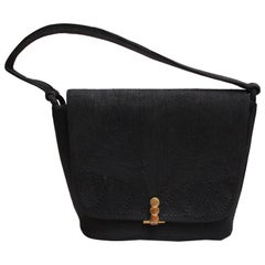 Vintage Large Black Corde Bag