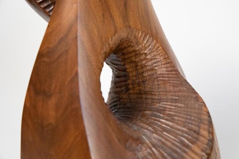 Vintage Large Carved Wood Abstract Sculpture Mid-Century Modern Brutalist For Sale 5