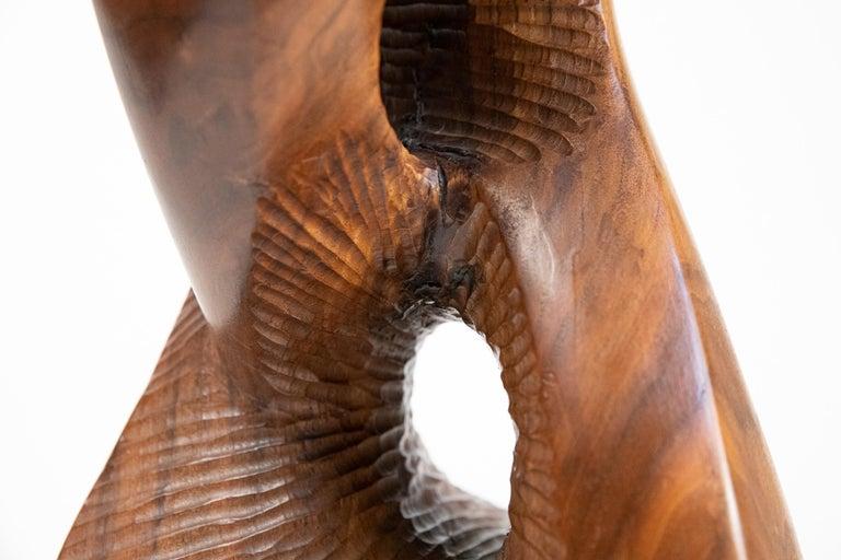 Vintage Large Carved Wood Abstract Sculpture Mid-Century Modern Brutalist For Sale 10