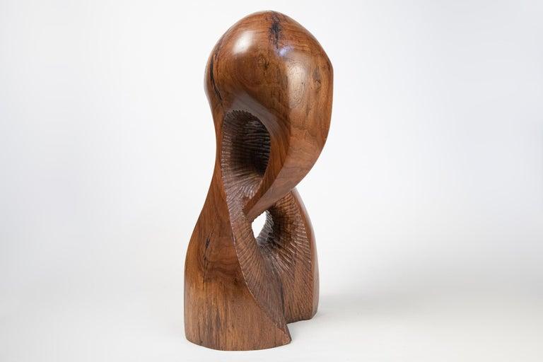 Vintage Large Carved Wood Abstract Sculpture Mid-Century Modern Brutalist For Sale 3