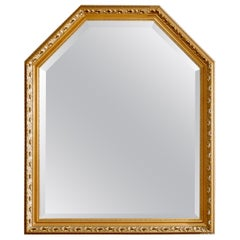 Vintage Large Continental Style Giltwood Wall Mirror, 20th Century